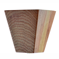 """Wood Restaurant Booth Legs CT4-B 4"""" ONLY 3-5/8""""x4"""""""