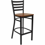 black metal ladder back bar stool